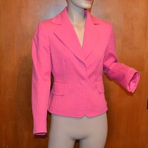 Tahari Arthur S. Levine Bubblegum Pink Blazer 6